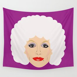 Dolly Parton - cartoon style portrait Wall Tapestry