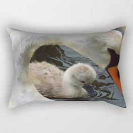 Swan Mothers Day Rectangular Pillow