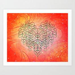 Celestial Hearts Art Print