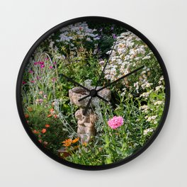 Mixed Flowers Garden Wall Clock