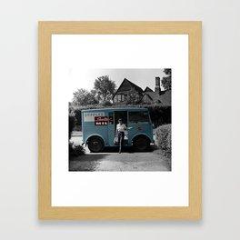 Vintage Sealtest Milk Truck Framed Art Print