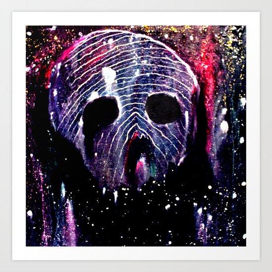 Cosmic Cranium Art Print