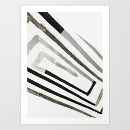 abstract minimal 2 Art Print