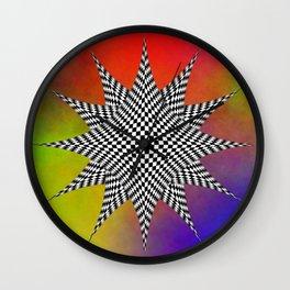 Modern Checkered Plasma Wall Clock
