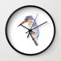 malachite Wall Clocks featuring Malachite Kingfisher by Art out of AfricaSA