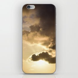 Long Beach Sunset with poem: Lasting Tribute iPhone Skin