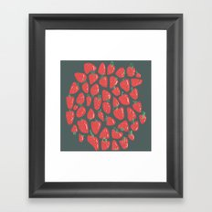 Summer is Coming and So Are Strawberries Framed Art Print