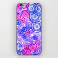 Flower Power Blue iPhone & iPod Skin