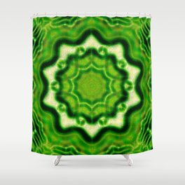 WOOD Element kaleido pattern Shower Curtain
