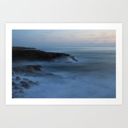 Ocean Beach San Diego Ca, Sunset Art Print