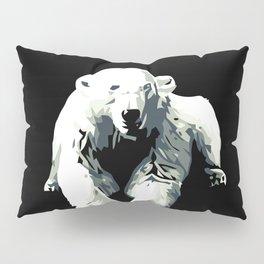 Vintage vector Zoo ad Basel polar bear Pillow Sham