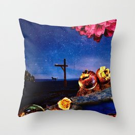 Early Morning Stars Throw Pillow