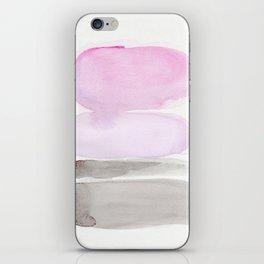 Watercolor pink iPhone Skin