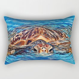 """Honu"" Rectangular Pillow"