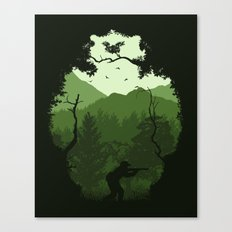 Hunting Season - Green Canvas Print