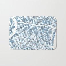 Philadelphia City Map Bath Mat