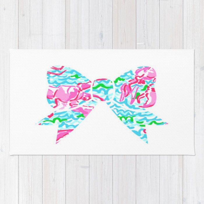 lilly pulitzer rug wallpaper lilly pulitzer bow rug by zoemaguire society6