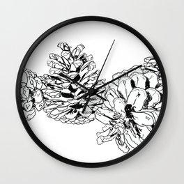 White Pine Cones Wall Clock