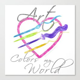Art Colors My World Canvas Print