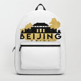 BEIJING CHINA SILHOUETTE SKYLINE MAP ART Backpack