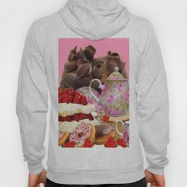 PINK CHOCOLATE & STRAWBERRY TEA TIME Hoody