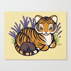 Loafing Tiger, Hidden Platypus Canvas Print