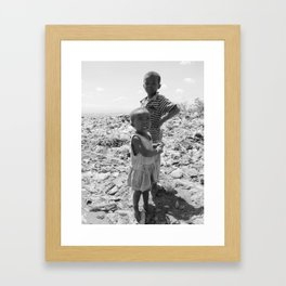 Garbage Slum Framed Art Print