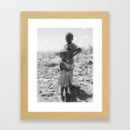 Garbage Slum Framed Art Print