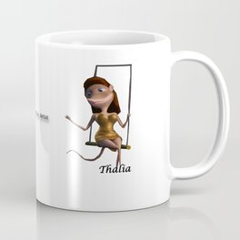 Thalia on trapeze from Vincent the Artist Coffee Mug