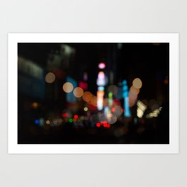 New York Lights at Night Art Print