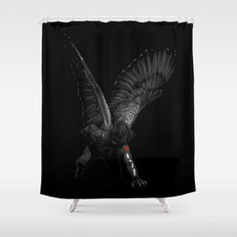 winged winter soldier Shower Curtain