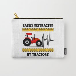 Easy Distracted By Tractors Farm Trucks Carry-All Pouch
