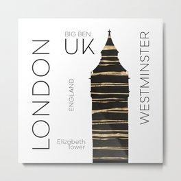 Urban Art LONDON Big Ben Metal Print