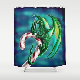 Candy Cane Hoard Shower Curtain