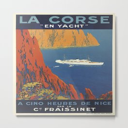 Vintage poster - La Corse, France Metal Print