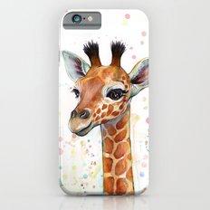 Giraffe Baby Animal Watercolor Whimsical Nursery Animals iPhone 6 Slim Case
