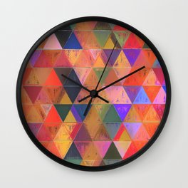 Lozenges 2 Wall Clock