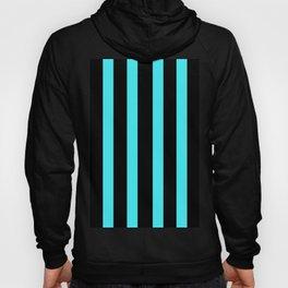 Black blue turquoise stripes design Hoody