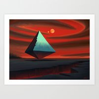 Moon Pyramid Art Print