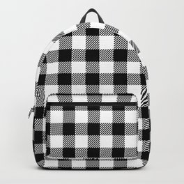 90's Buffalo Check Plaid in Black and White Backpack