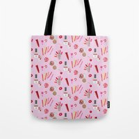 makeup Tote Bags featuring makeup by fungusmiu