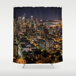 Seattle Nights Shower Curtain