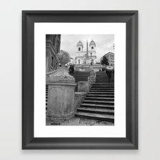 Spanish Steps Framed Art Print