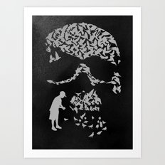 Pigeonholed Art Print