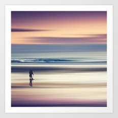 Sharing the Magic - abstract seascape at sunset Art Print