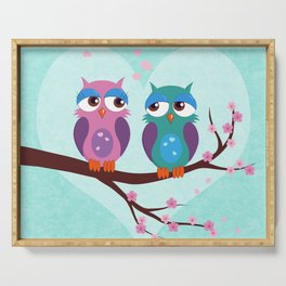 Love owls Serving Tray