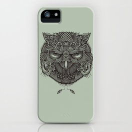 Warrior Owl Face iPhone Case