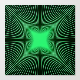 The Emerald Illusion Canvas Print