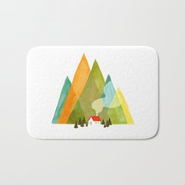 House at the foot of the mountains Bath Mat