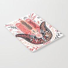 Hamsa Hand – Red & Black Palette Notebook